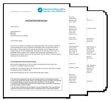 Vorlage von Patientenverfügung 2018 zum Ausdrucken als PDF